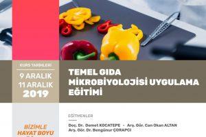 """""""Temel Gıda Mikrobiyolojisi Uygulama Eğitimi"""" Sertifika Programı"""