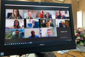 Su Ürünleri Fakülteleri Dekanlar Konseyi Toplantısı Video Konferans Aracılığıyla Yapıldı