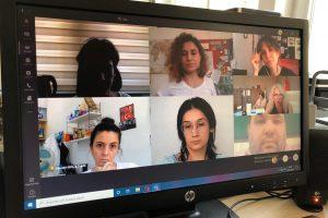 Fakülte Tanıtım Grubumuzla Yayın Kataloğu Toplantısı Video Konferans Aracılığıyla Yapıldı